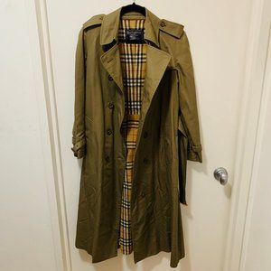 Burberry London Olive Green Vintage Coat